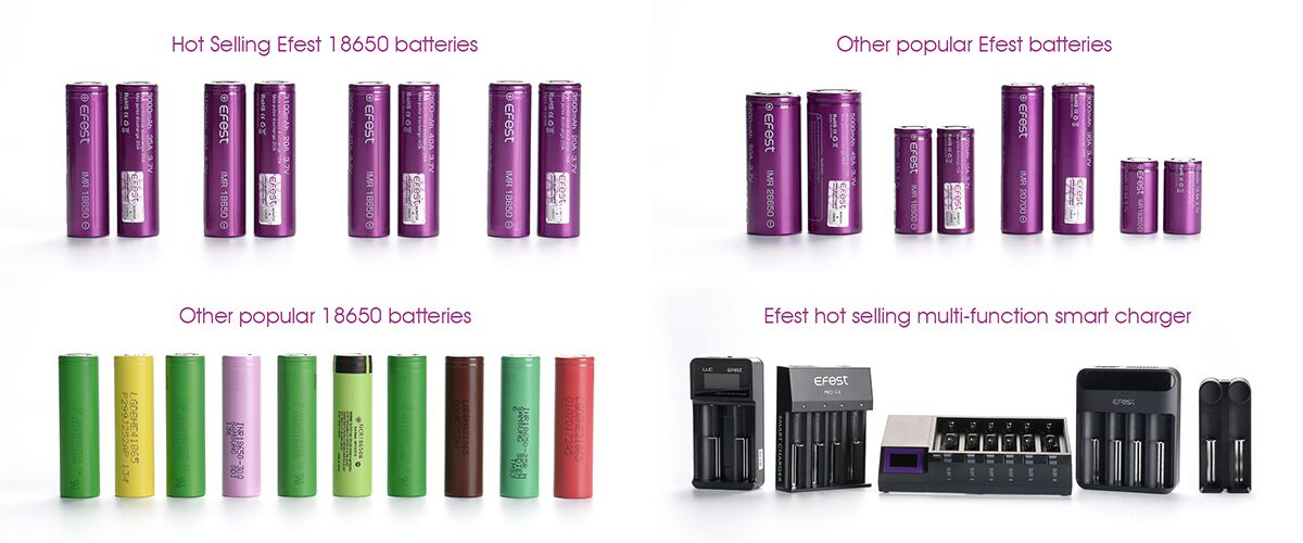Efest purple 18350 10.5A18350 li ion Battery imr LIthium Rechargeable Battery 18350