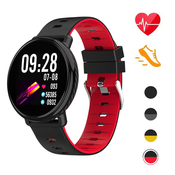 2018 CE RoHS Health Bluetooth GPS Sport Wrist Bracelets IP68 Waterproof Android Smart Watch With Blood Pressure And Heart Rate