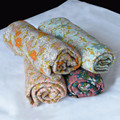 Skin-Friendly Breathable Colorful Floral Muslin Blanket