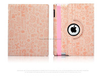 Luxuxry hot selling smart cover case for iPad 2 3 4