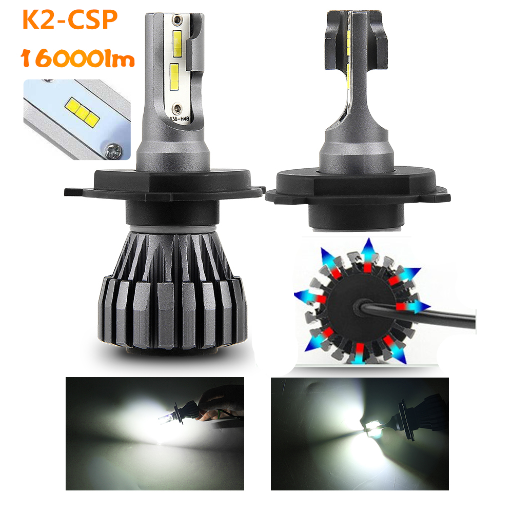 2020 New 60w 12V 24V Mini Small Body H13 9005 9006 LED Head Lights,Fanless K2 H11 <strong>Auto</strong> H7 H4 Car Led Headlight