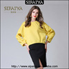Fashion beautiful yellow ladies suit skirt and blouse for winter