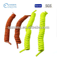 New round colorful curly elastic shoelaces