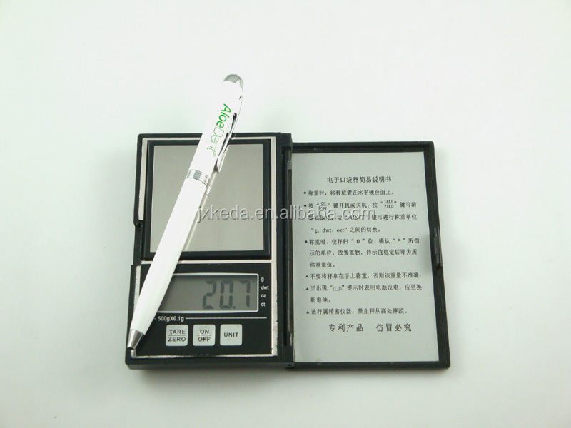 hot selling promotional gift pen with led light, led metal ball pen