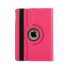 High Quality 360 degree rotating leather flip smart cover case for ipad 9.7 2017