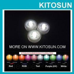 Wholesale Colorful Single LED Submersible Tea Light for Wedding Decoration