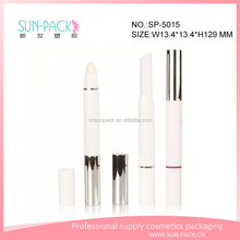long slim plastic cosmetic empty highlighting stick or lipstick tube container custom concealer packaging