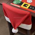 Hot selling red felt chair santa hat