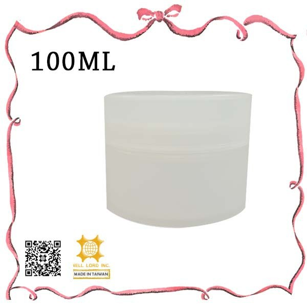 Girl's collection 100ml white cap small glass jar cream container