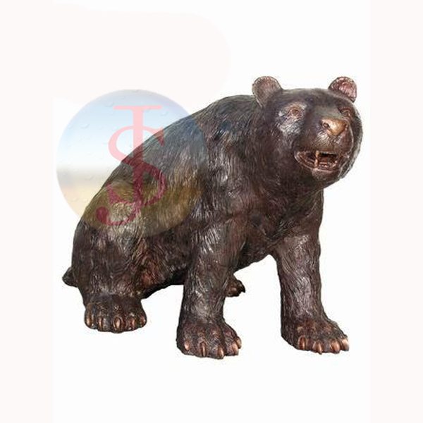 Outdoor use Bear Bronze Statue for garden decoration
