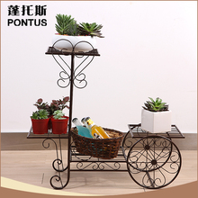 New arrival schools decoration craft wrought iron bicycle flower stand