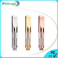 Customized logo no leaking pyrex glass tank dual coil disposable cbd oil .5ml vape cartridge