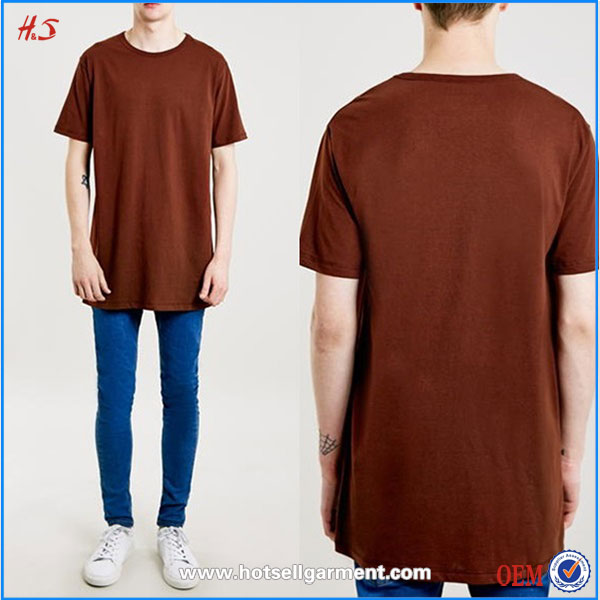 Best Selling Quality Products Fashion Men Clothes Longline Fit T-Shirt Custom Plain Blank T Shirt For Men