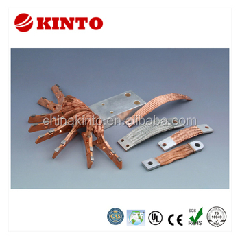 Flexible tinned copper braided connectors, braidded copper tape