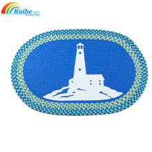 Best quality oval braided jute area rugs with customized size for home and outdoor