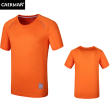 Premium breathable polyester quick dry orange sport t shirt for men and women