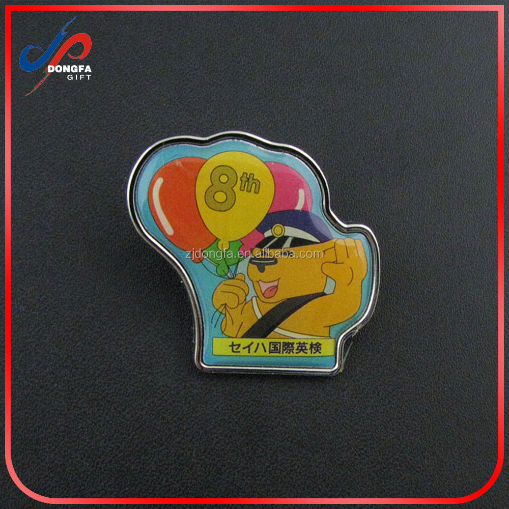 Wholesale metal blank pin badges with custom logo