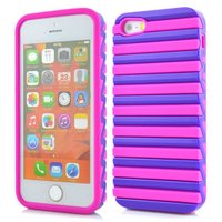 For Apple iPhone 5 5s cell phone cover case,alibaba express new arrival ladder design silicone+PC case