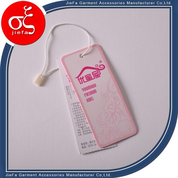 Thickness paper garment jeans hangtag design and printing