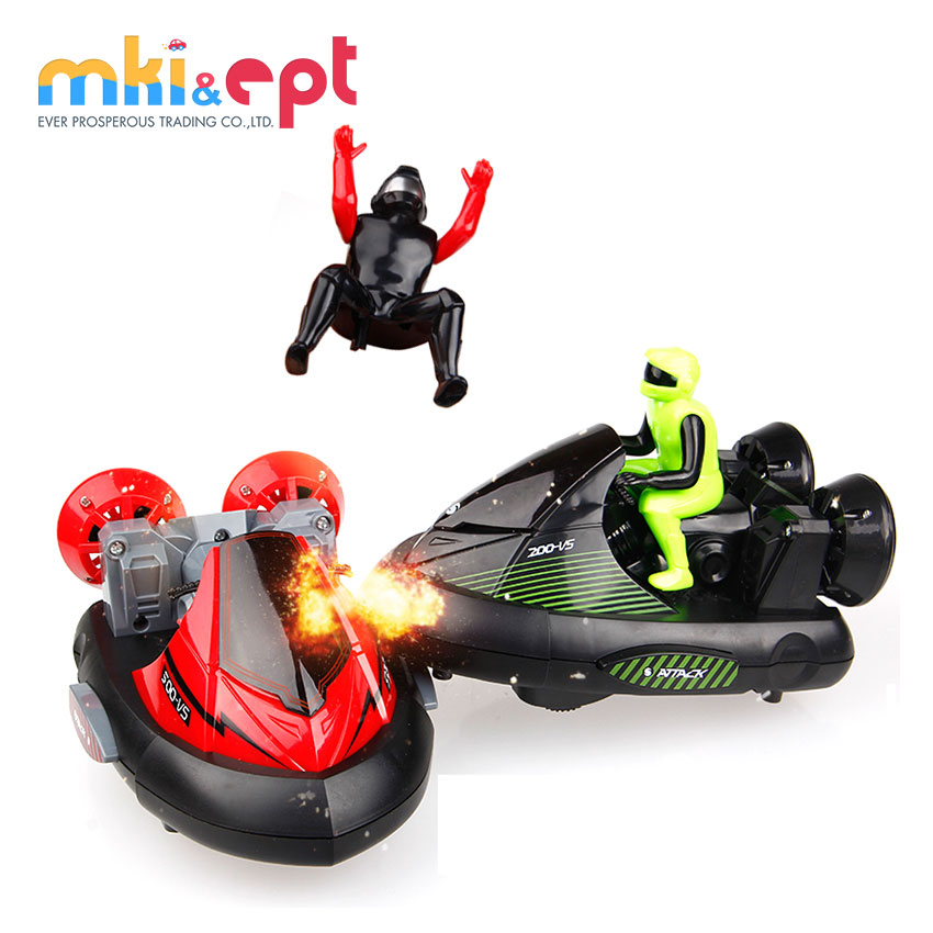 Set of 2 stunt <strong>remote</strong> <strong>control</strong> rc battle bumper cars with drivers