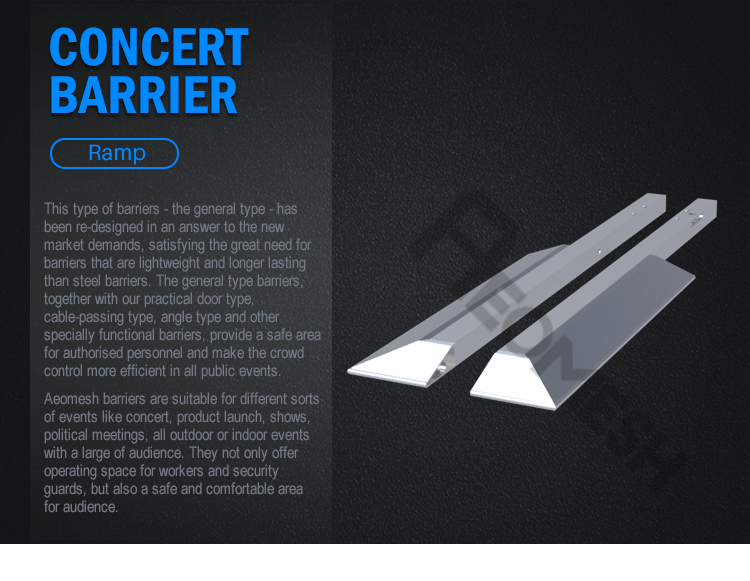 AEOBARRIER ramp Concert Barrier