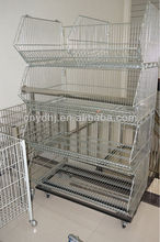 YD-P001 Warehouse Wire Mesh Folding and Rollong Steel Storage Stacking Cage with Four Wheels Direct from Jiangsu Factory