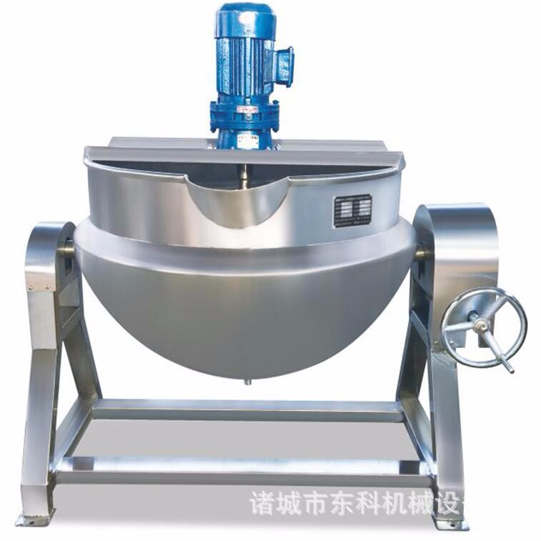 Stainless Steel Electrical Heating Jam Mixer Cooking Food Jacketed Boiling Kettle with Agitator