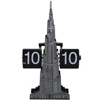 Burj Dubai Retro Flip Clock Unique Modern Black Internal Gear Operated Table Desktop Burj DubaiFlip page Clocks
