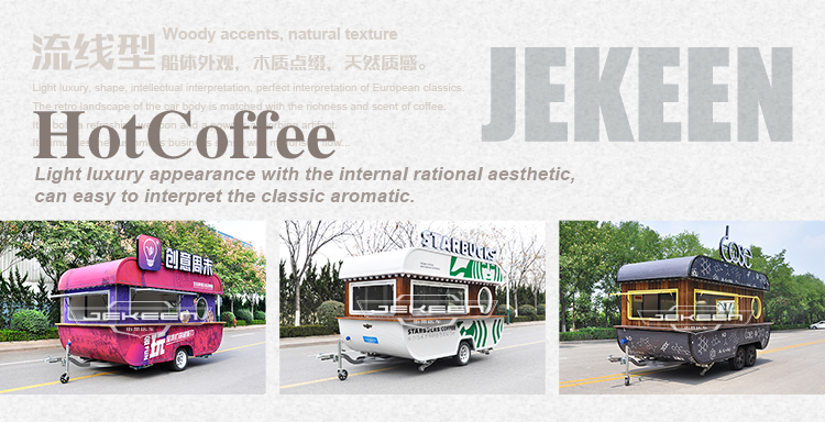 JEKEEN high quality customized food cart price food truck trailer of MOSHE