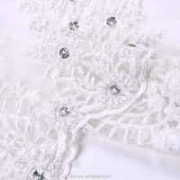 handmade embroidered tulle fabric ivory for bedding fabric, organza embroidered fabric, eco embroidery machine fabric