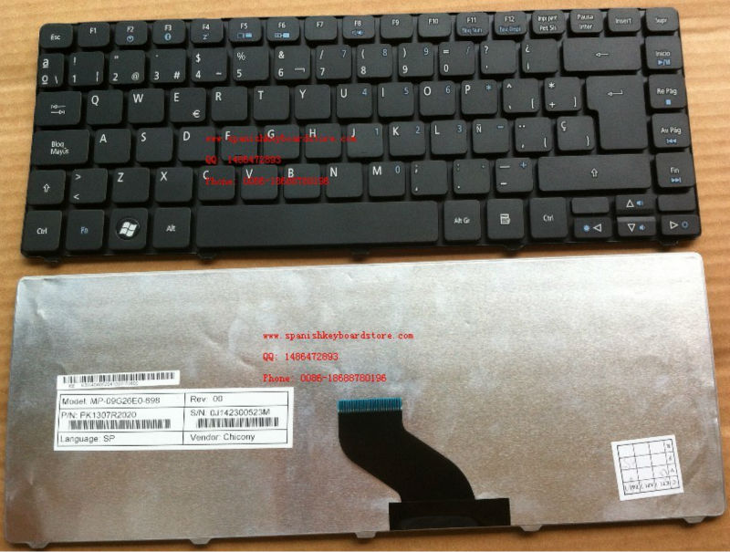 3810T SP laptop keyboard For ACER aspire 3810 4741 4736 4738 Black Spanish laptop keyboard