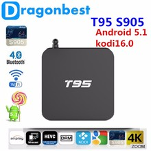 firmware update amlogic smart tv T95 1G 8G Quad core KODI16.0 android 5.1 tv box