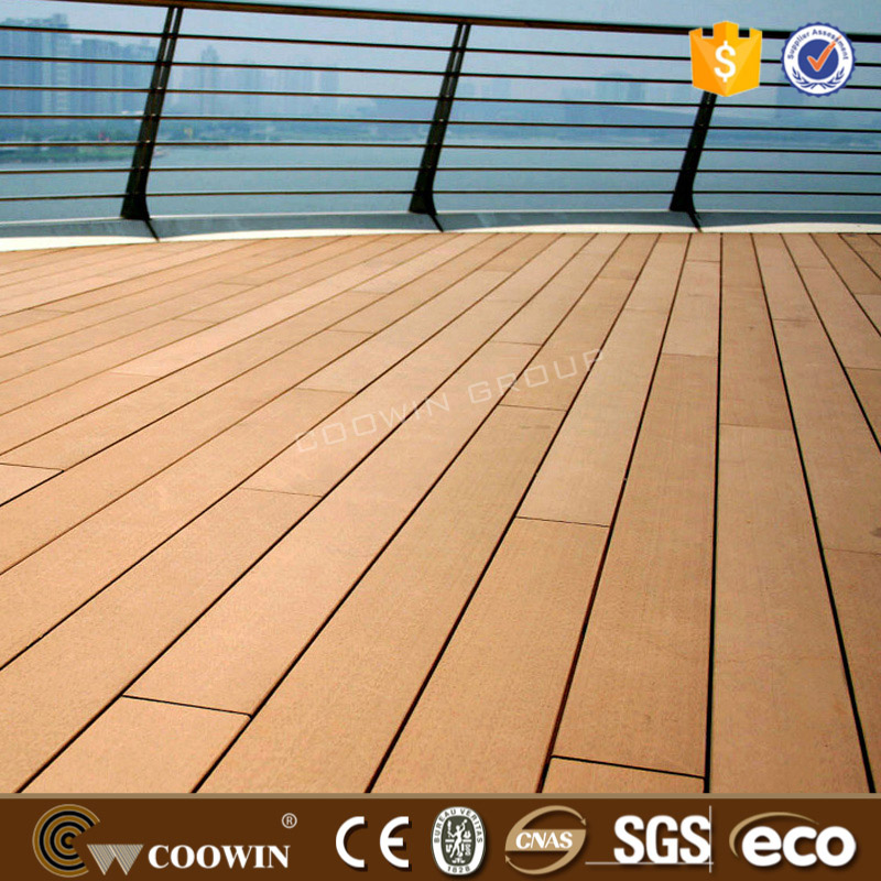 Special anti slippery material natural swimming pool covering wood plastic composite floor