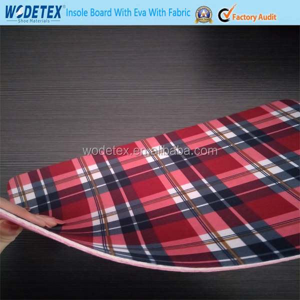 Fibra insole board with eva and printing fabric for shoes insole