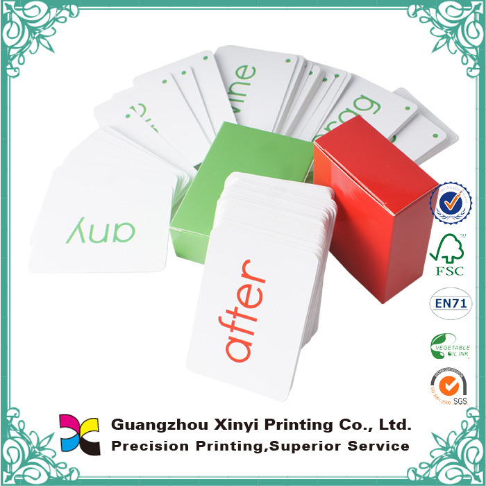 Learning cards glossy lamination wholesale cheap playing cards custom design for children
