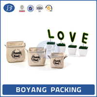 High quality oem jute fabric foldable storage box