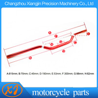 cnc colorful anodized motorcycle spare parts handle bar with various anodized color