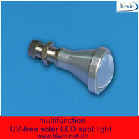 multifunction UV-free solar LED spot light