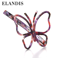E-ELANDIS 2016 yiwu jewelry wholesale fashion girls acrylic butterfly hair clips