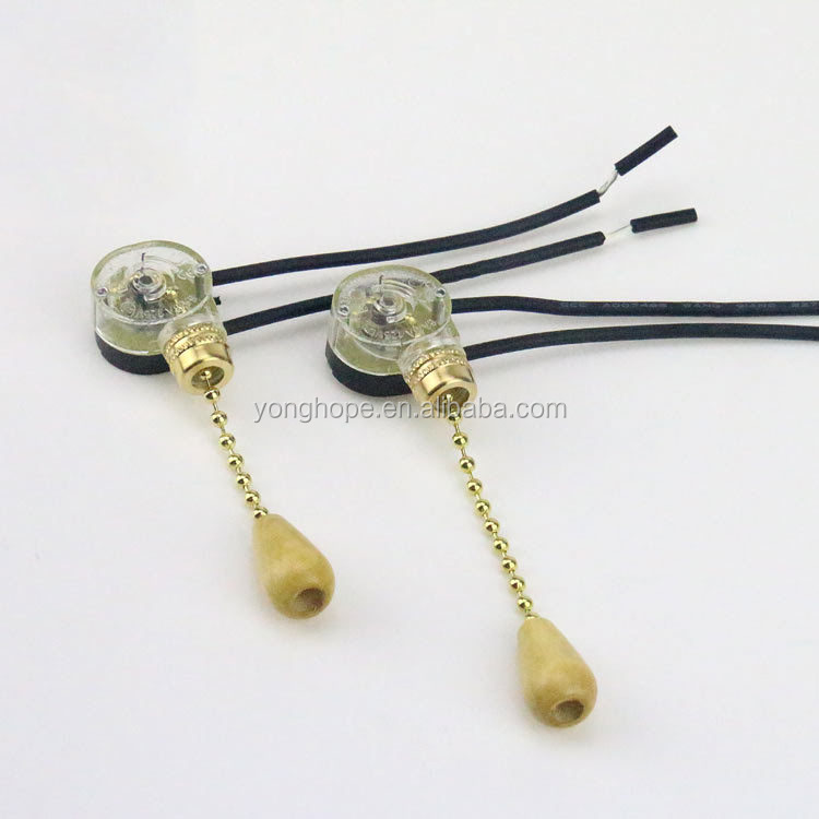 Wall Pull Chain Switch Device For DIY Pendant Light Wall Sconce Chandelier Ceiling Lamp Base Lighting Accessories