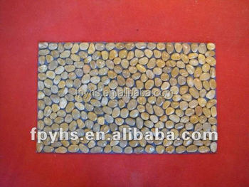 pebble stone door mat backing material with Rubber