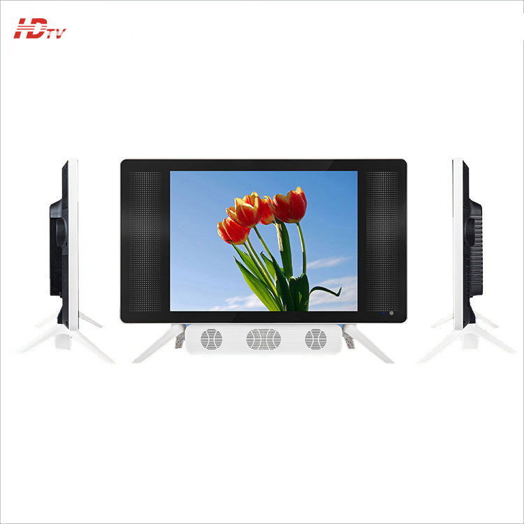 High Quality 15/ 17/ 19 Inch LED TV Mini Flat Screen TV With White K-base and Speaker Sound