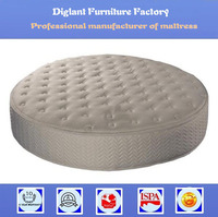 Chinese bamboo king size round bed mattress