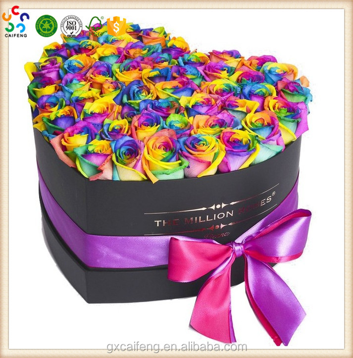 2017 new style Luxury round flowers packaging gift hat box