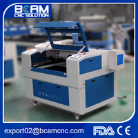 High precision BCJ6040 3d crystal laser engraving machine price with rotation RECI laser tube
