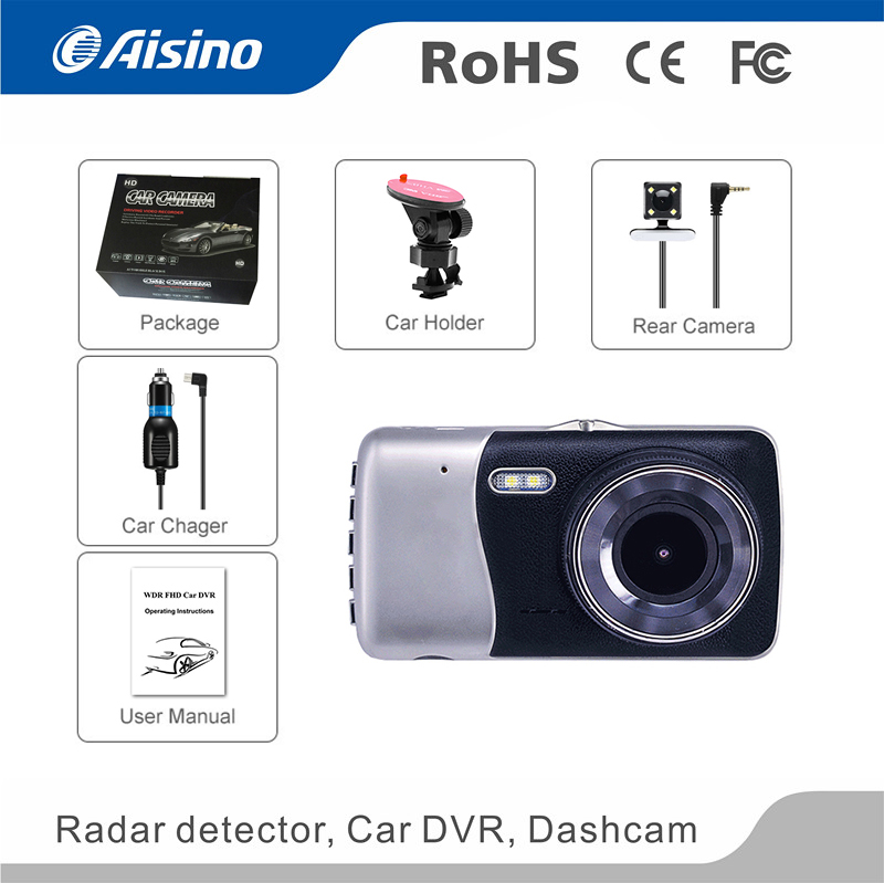 Dual Lens Full Hd 1080p Vehicle Blackbox Dvr Dash Cam