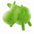Custom Plastic Cow Shape Animal Money Bank,custom pvc animal money bank Cow