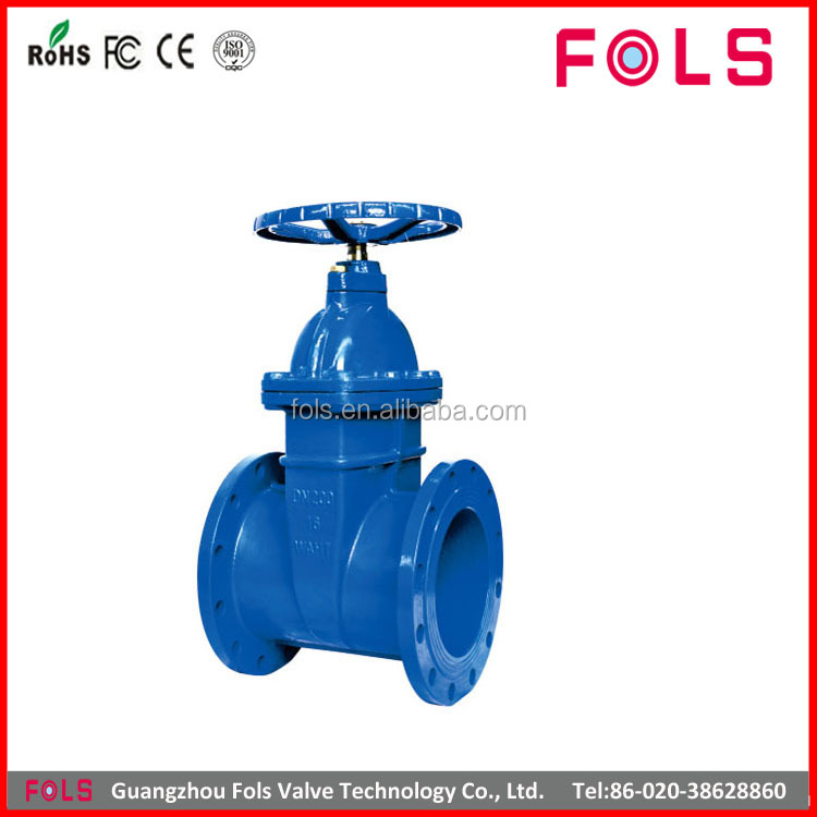 ductile iron soft seated din rising stem gate valve