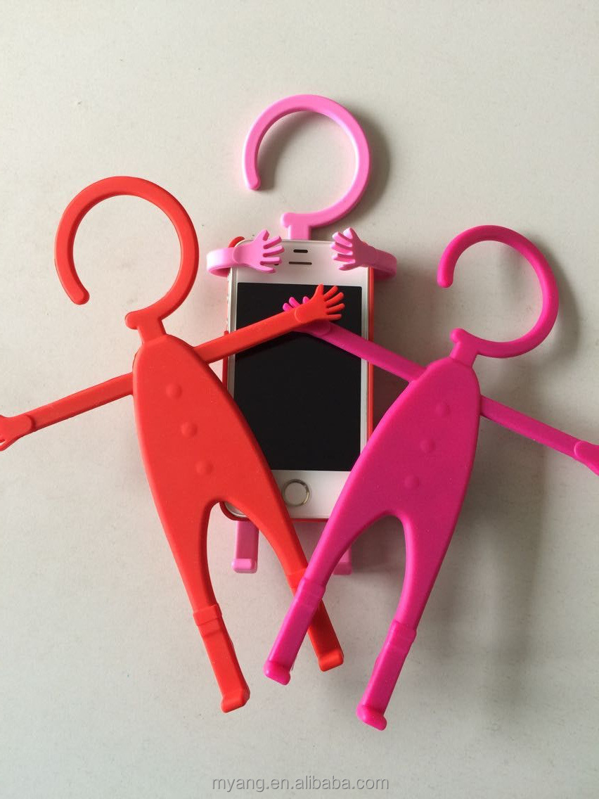 Multi- Silicone mobile Phone Holders person shape Phone Accessory