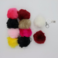 Plush ball key chain